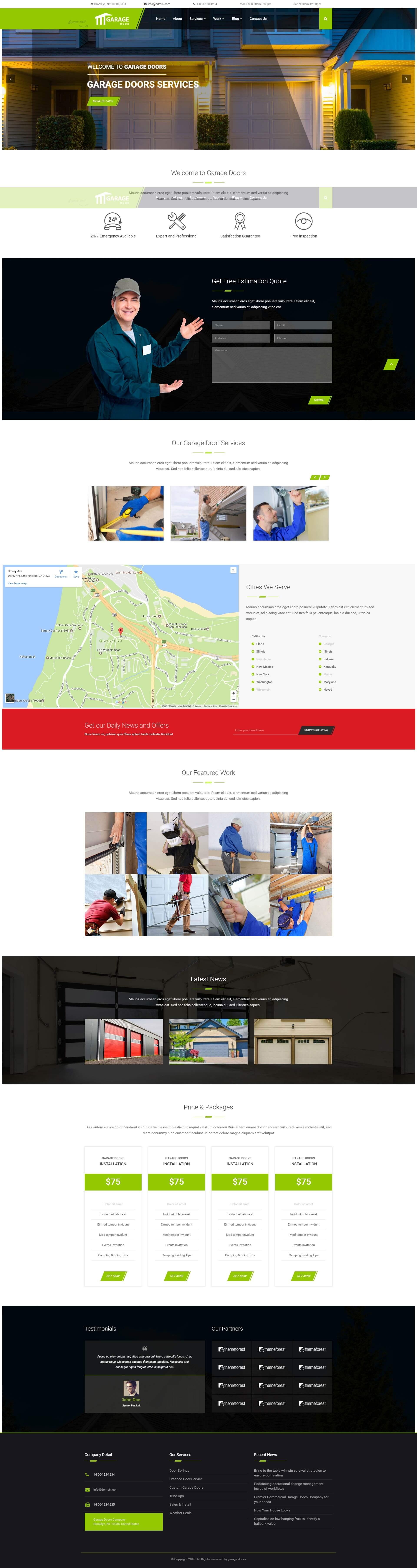 Best Garage WordPress Theme For Garage Door Installation and Repair Service Companies