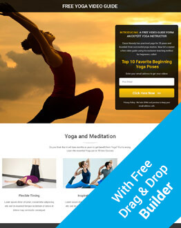 Best Responsive Yoga Squeeze Page HTML5 Template with free builder