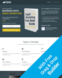 High Lead Generating Responsive Ebook Squeeze Page HTML5 Template With Free Builder