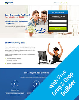 Earn Money Online With Responsive HTML5 Money Online Squeeze Page Design Templates