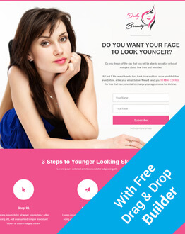 HTML5 Responsive Spa & Beauty Salon And Beauty Parlor Skin Care Squeeze Page Template