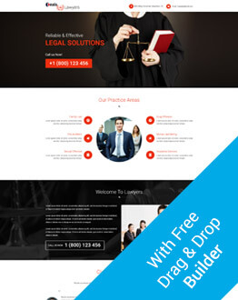 Free Landing Page Builder With Best Attorney And Law PPC Landing Page Design Template