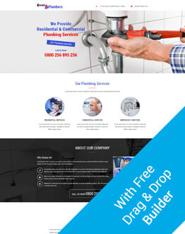 Capture Positive Leads for Your Business and Services With Best Html5 Responsive Converting Plumbing PPC Landing Page Design with Free Builder