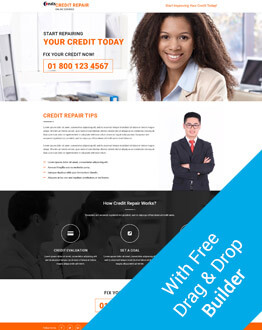 Free Builder With Credit Repair Ppc Landing Page Design Template To Boost Your Business