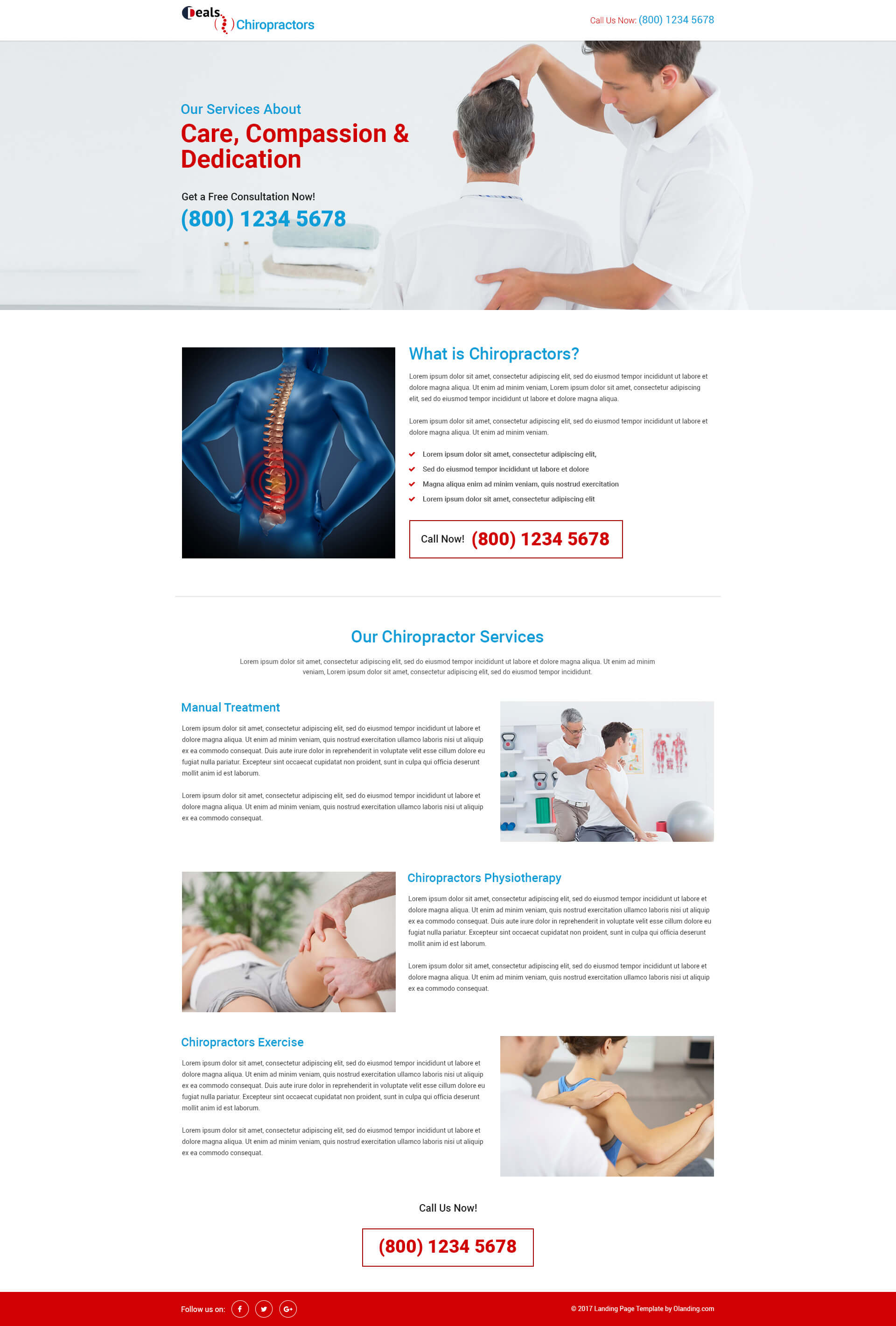 HTML5 Responsive Download Chiropractic PPC Landing Page Template ...