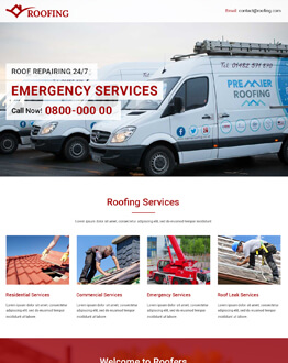 Responsive HTML5 Roofing Business Service Conversion Landing Page Design Template for high lead capturing