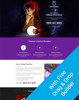 Responsive Psychics PPC Landing Page Design Template With Landing Page Builder