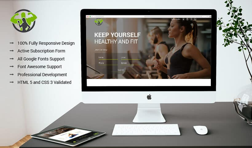 Best Conversion Rate Health And Fitness Internet Marketing Landing Page Design Template