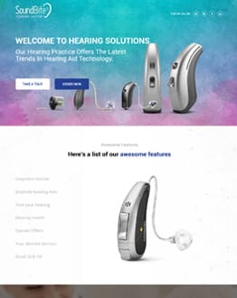 Best Conversion Rate And Capture Leads Hearing Solutions Landing Page Design Template