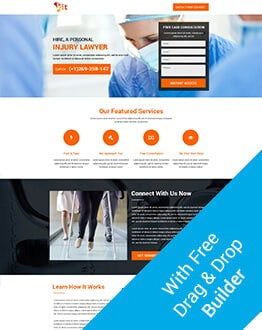 Personal Injury Free Consultations Or Claim Compensation Landing Page Design Template To Get More Leads