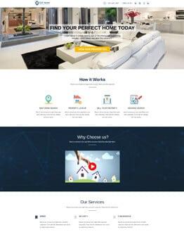 Real estate Mobile responsive landing page design templates for real estate agents, broker and developer