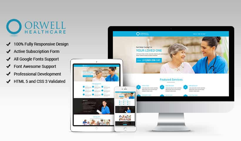 Help Seniors in Old Age Through Elderly Care Services Landing Page Design Template