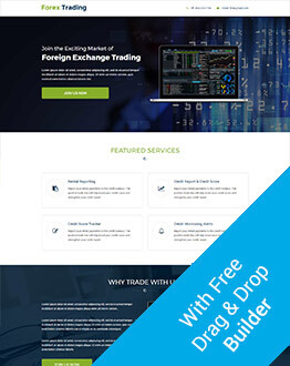 Responsive Landing Page Design Template For Forex Trading With Free Landing Page Builder