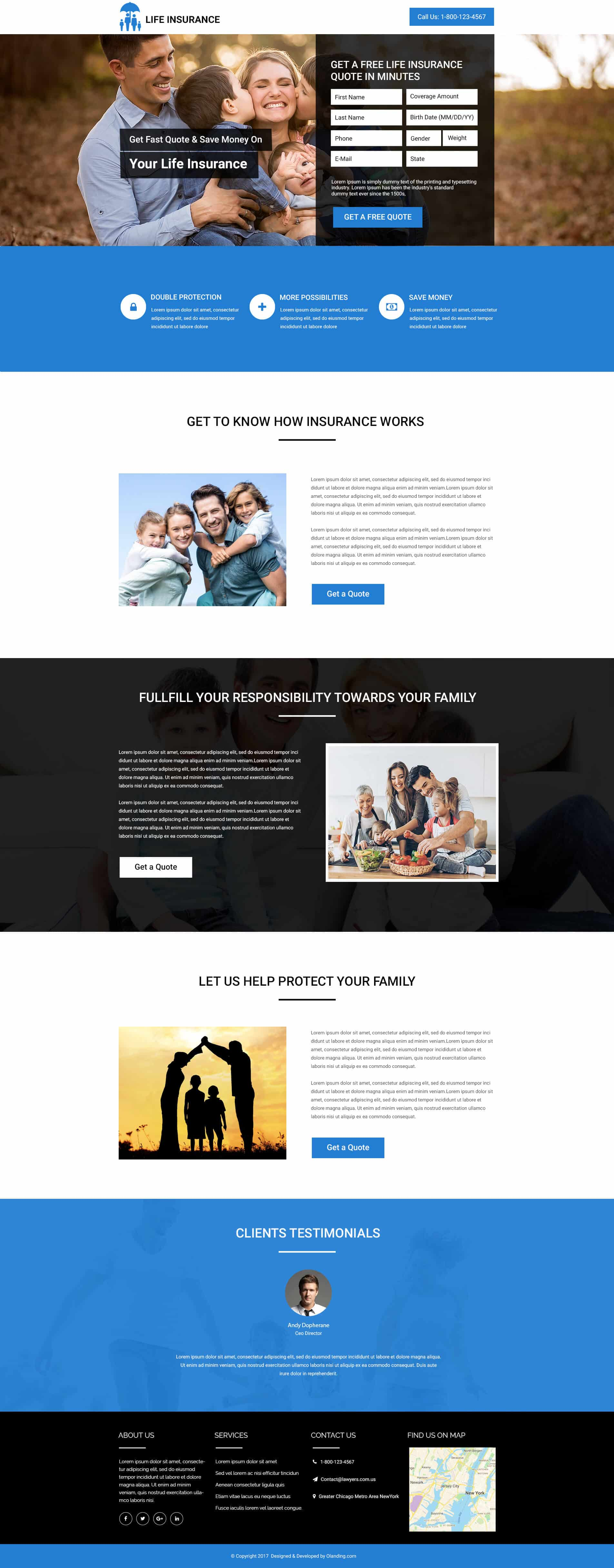 life insurance landing page