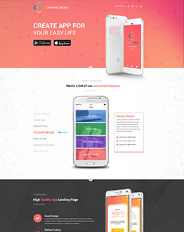 Maximize Sales and increase Downloads Of Your App With Mobile App Landing Page Design Template