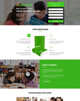 Increase Your Online Book Sales With Book Store Landing Page Design Template