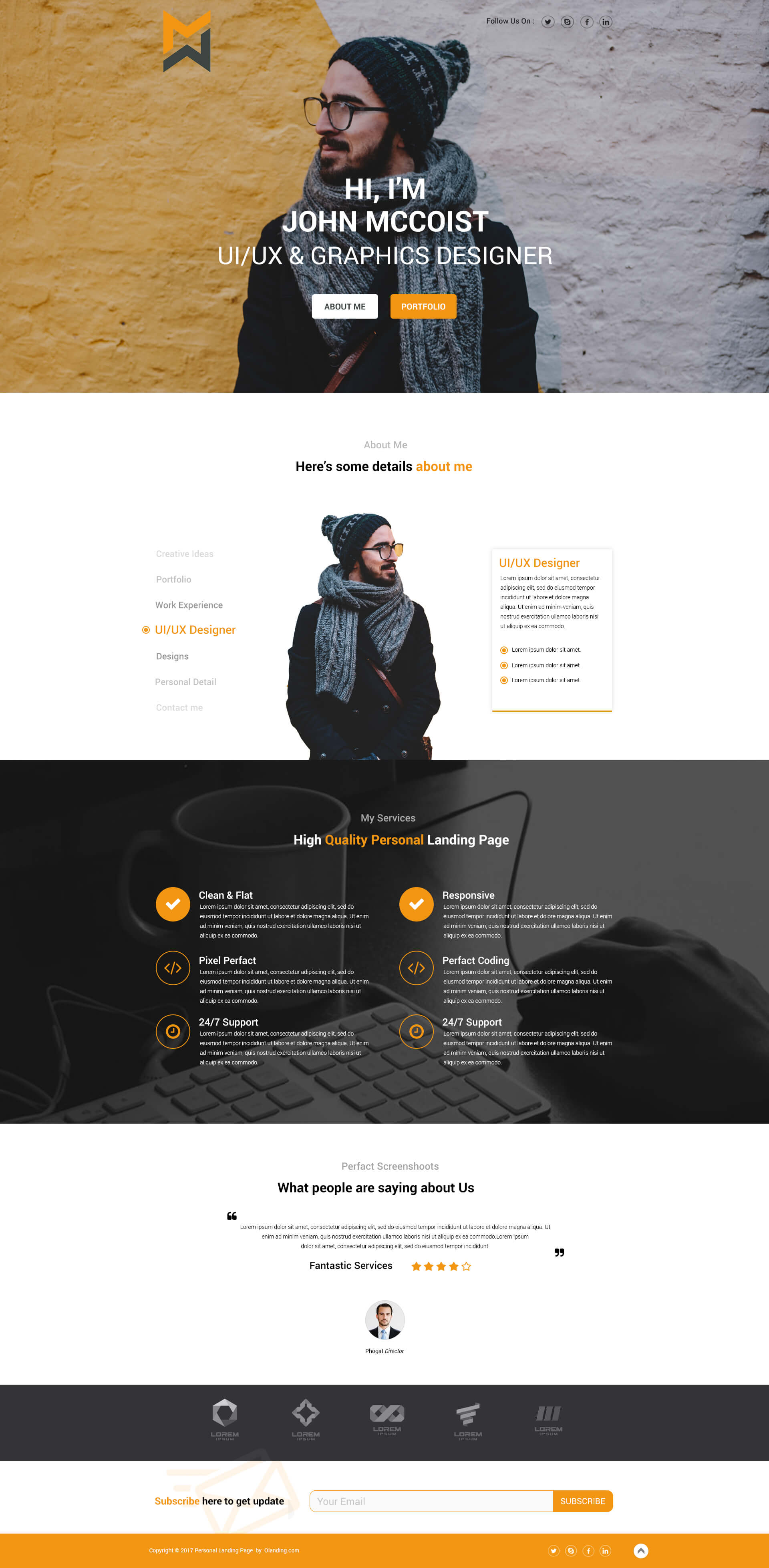 Download Personal Landing Page Design Template For The Best Way To - Personal landing page template