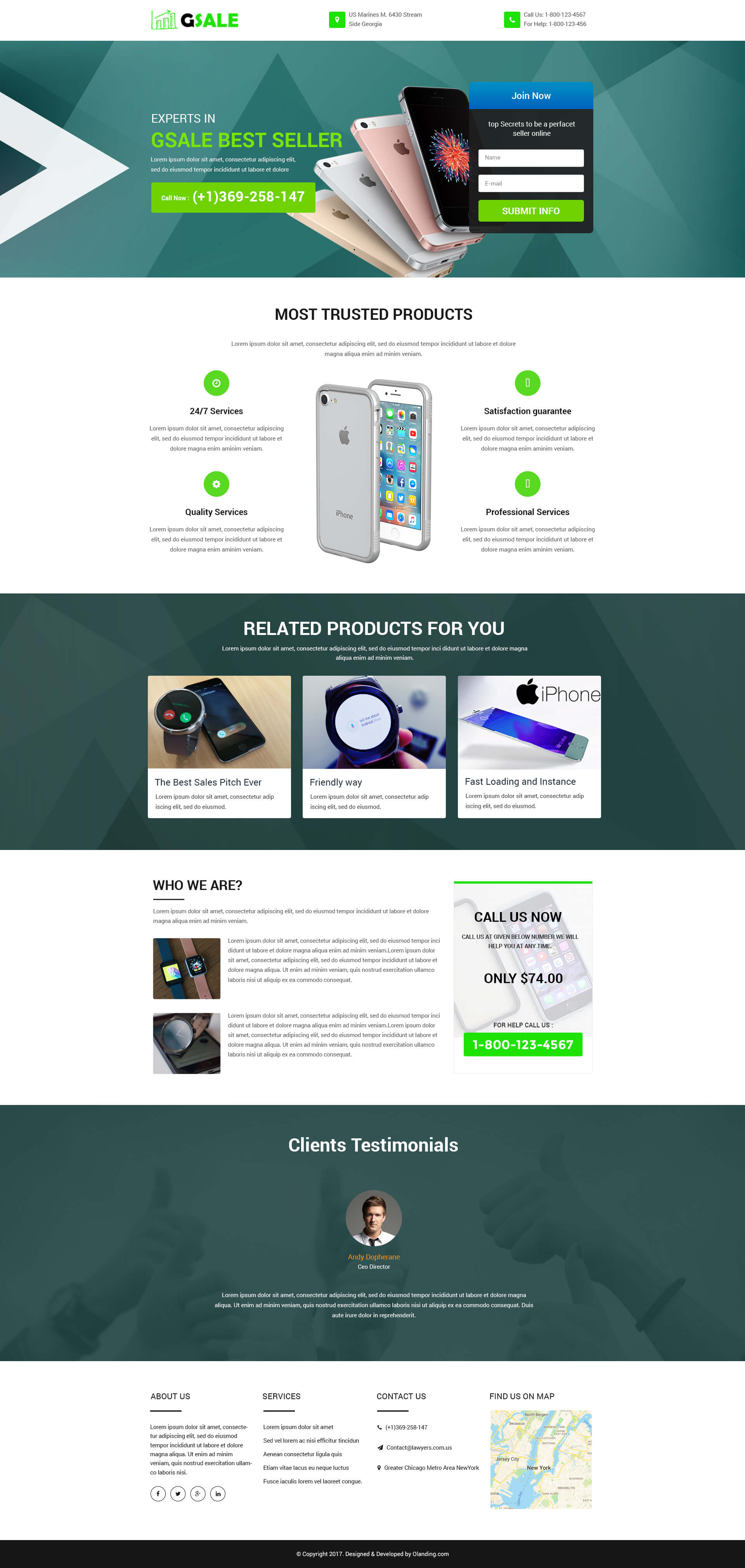 Sales Page Landing Page Design Templates For Your Online Internet - Sales landing page template