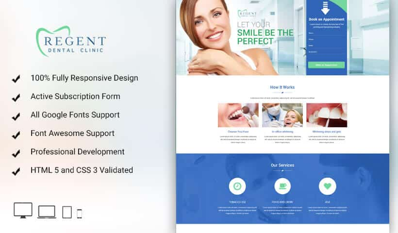 Boost Sale Of Your Teeth whitening products And Services With Teeth Whitening Landing Page Design Template