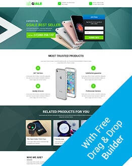 Sales Page Landing Pages Design Template For Your Online Internet Marketing and Affiliate Marketing