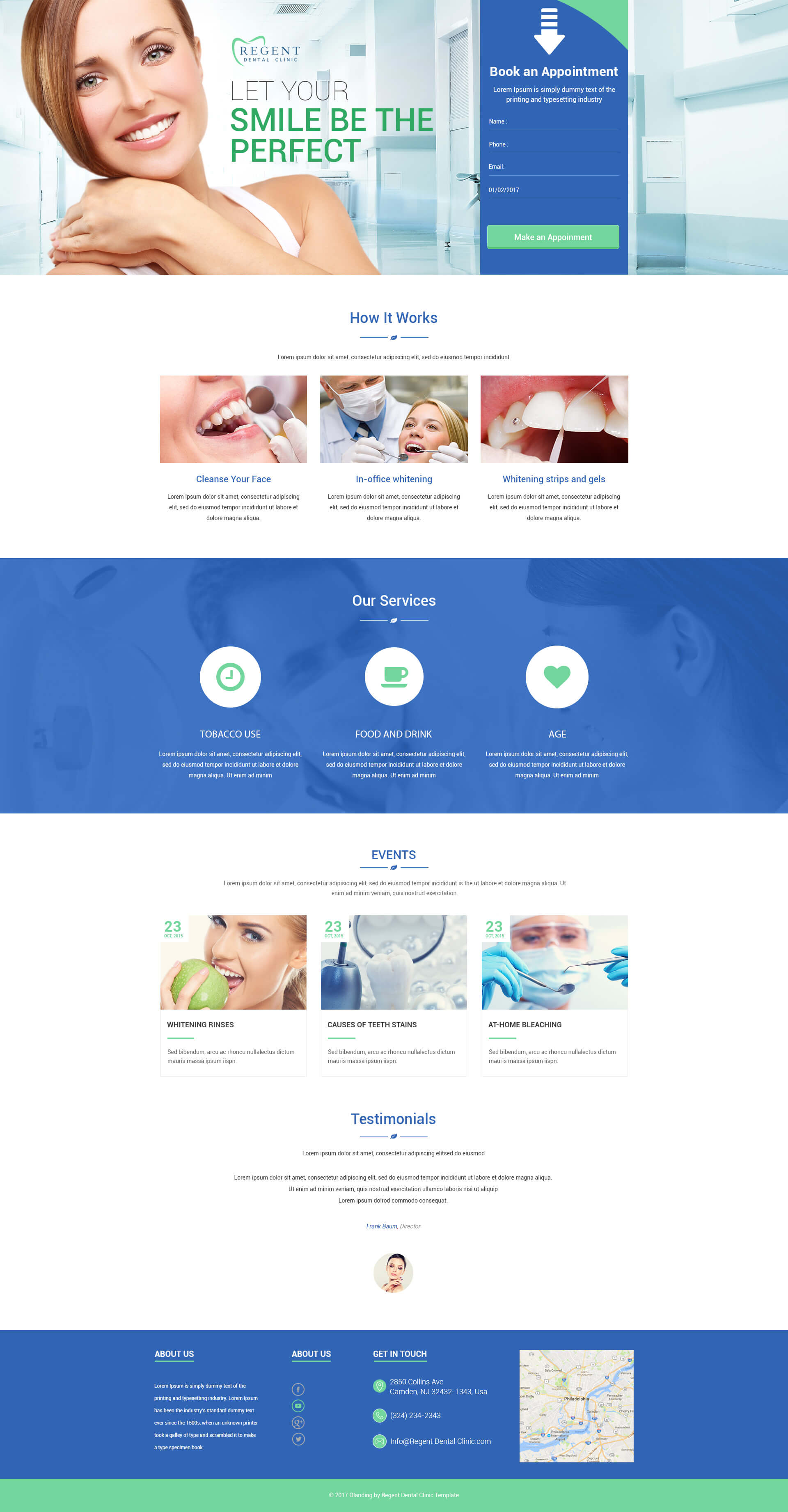 teeth whitening landing page design template to sale your teeth whitening products and services. Black Bedroom Furniture Sets. Home Design Ideas