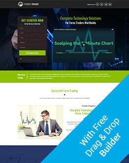 Forex Trading Landing Page Design Templates Olanding