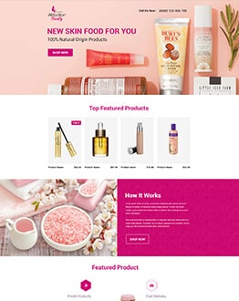 Maximize your Sales With Beauty product Responsive landing page design template