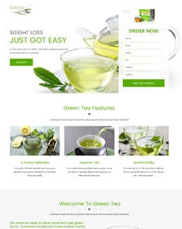 Best Green Tea weight loss html Landing Page website template
