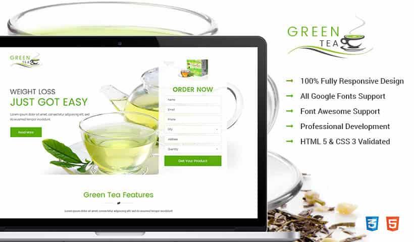 Best Green Tea weight loss html Landing Page website template