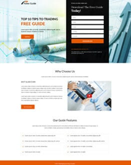 Forex Guide landing page design template