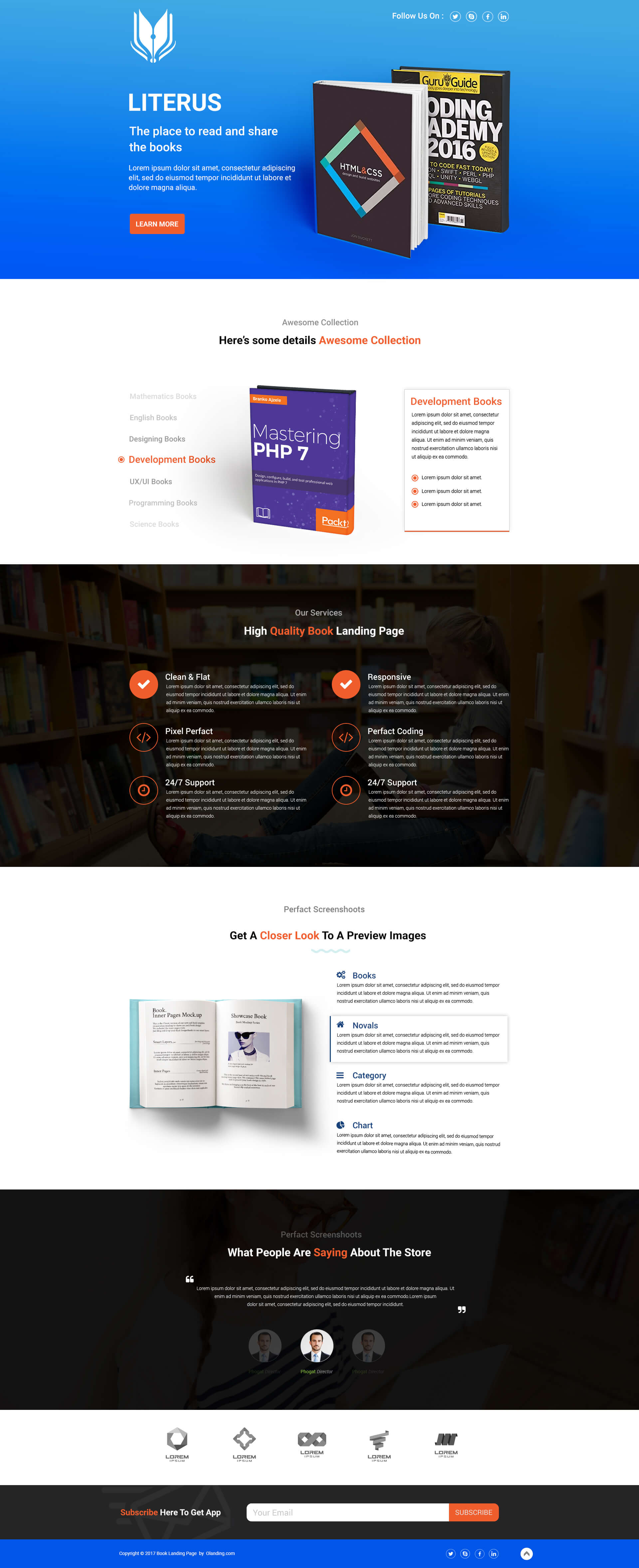Book Store Shop landing page