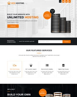 Boost Your Hosting Package Sale Responsive Web hosting landing page design template