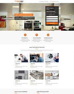 Capture Potential Leads With Responsive appliance repair landing page design Template