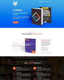 Responsive Book Store Shop landing page design template