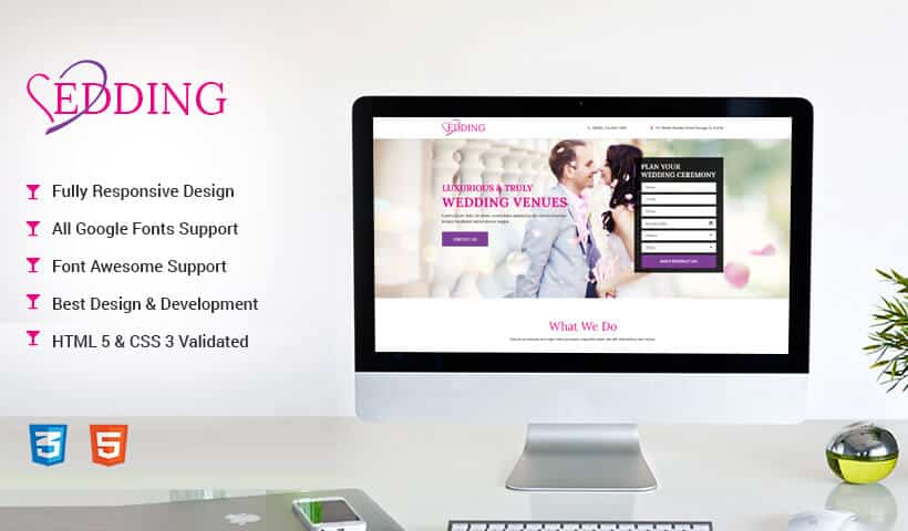 Wedding Landing Page Design Template to Boost Leads for Your Wedding