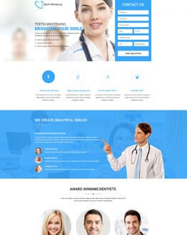 Boost Your Sale With Best Teeth Whitening Landing Page Design Template