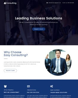 Business Consulting Responsive Landing Page Design Template