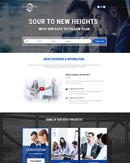 Responsive Business and Information Landing Page Design Template