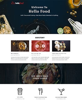 Responsive Restaurant and Cafe Landing Page Design Template