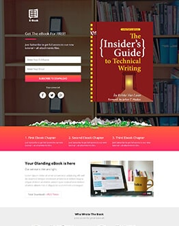 eBook Landing Page Design Template