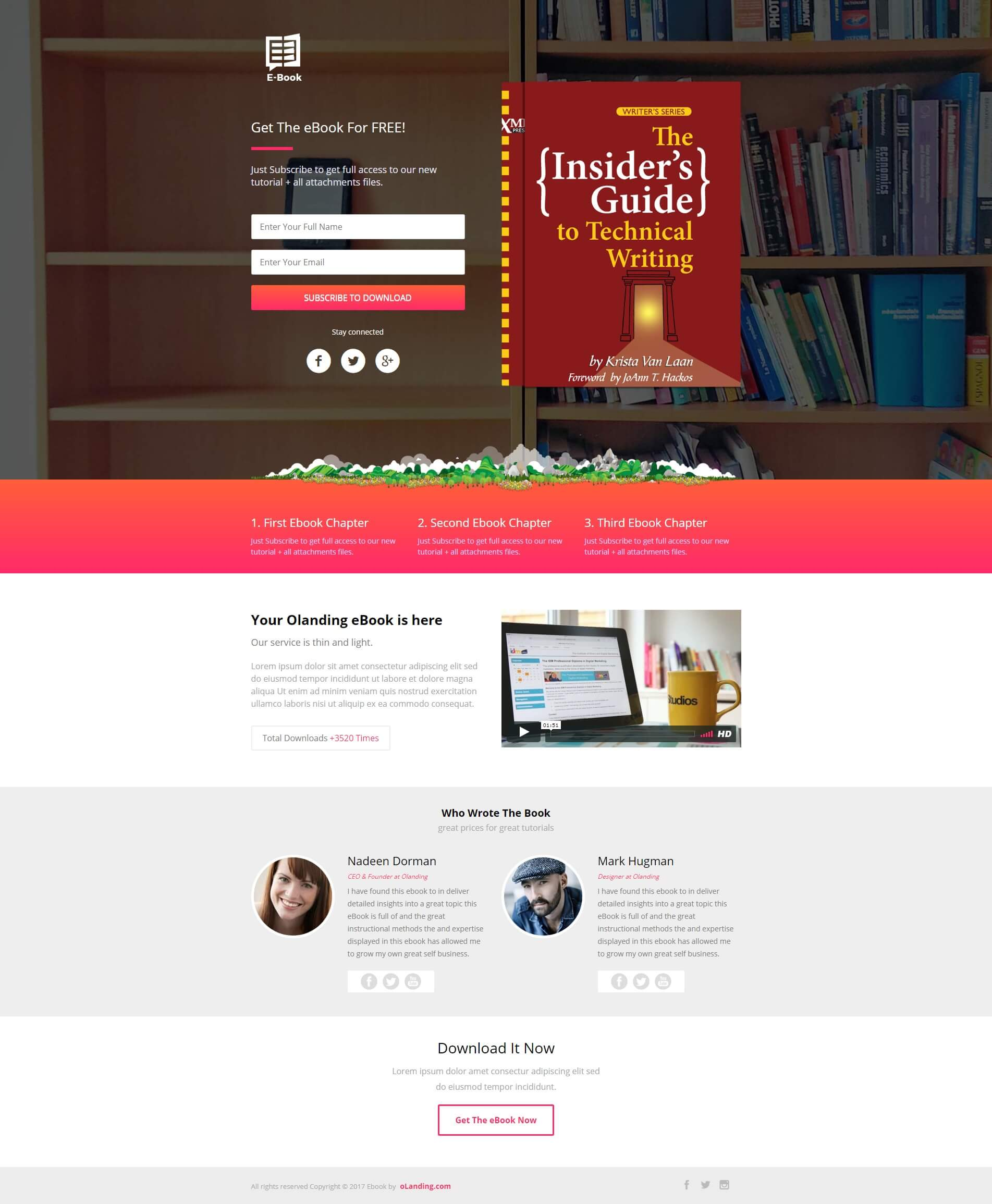 eBook Landing Page Design