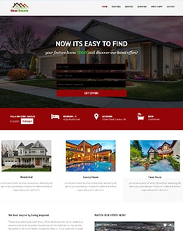 Fully Responsive Real Estate HTML Website Template