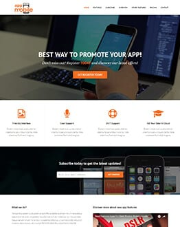 High Quality Mobile App Landing Page Design
