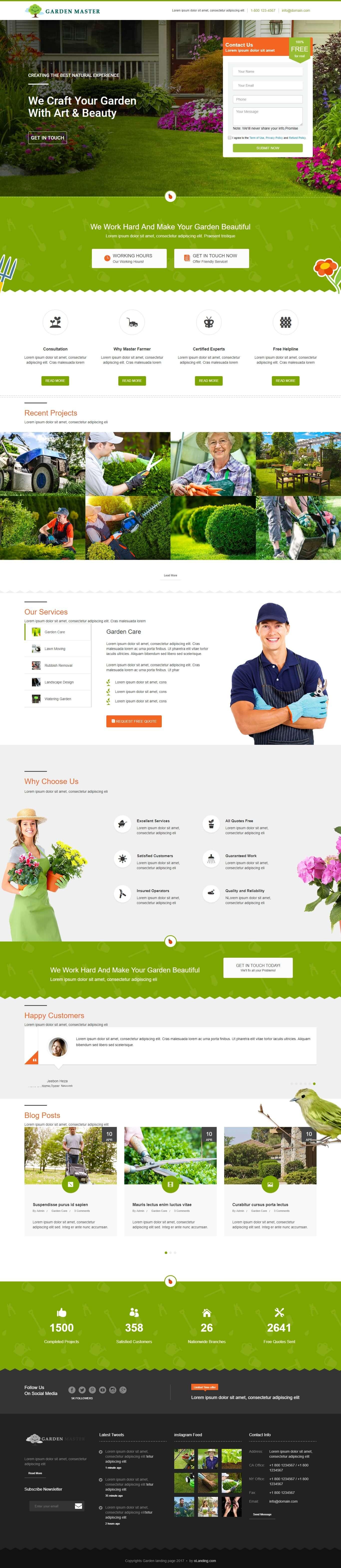 Garden Website Template Responsive Gardening Html Template