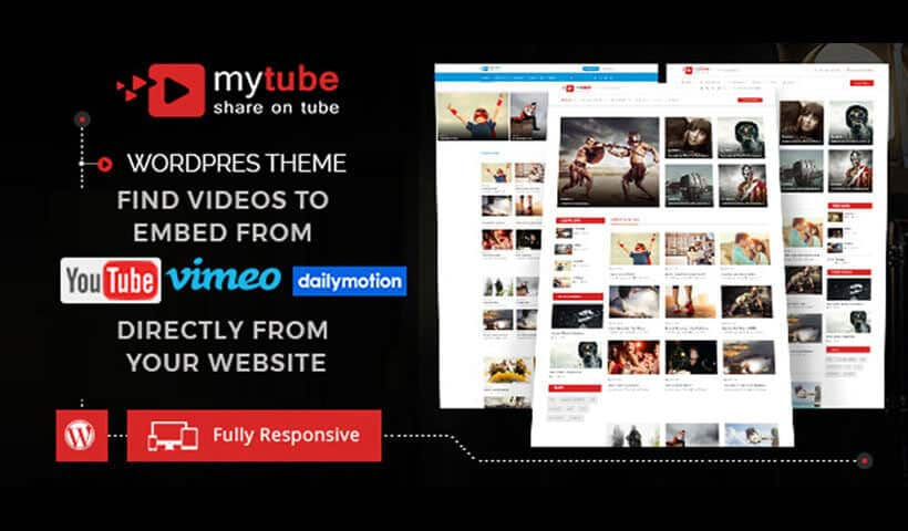 MyTube – Video Theme HTML Template For Youtube, Vimeo & Daily Motion Clips
