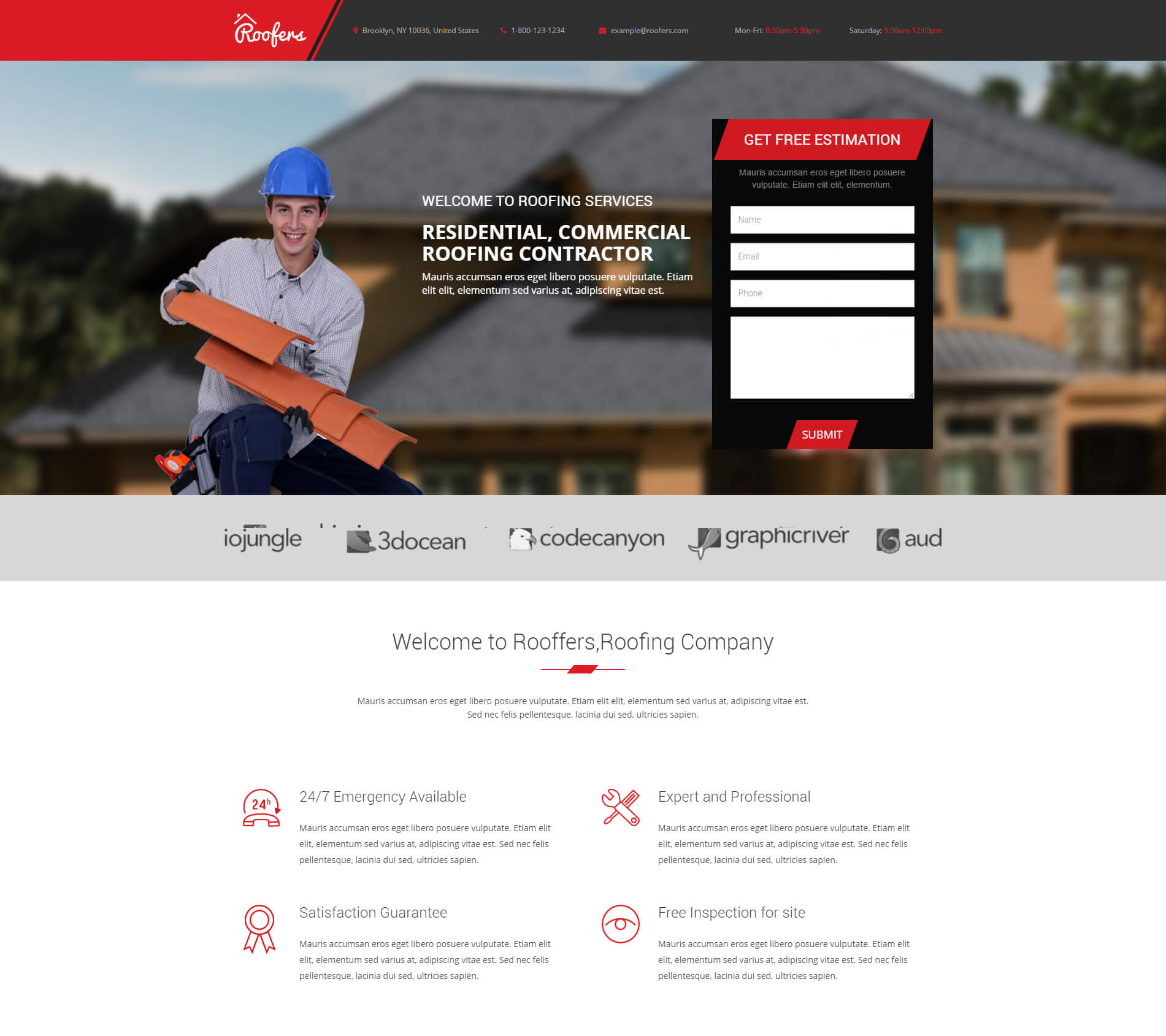 Roofers Landing Page Html Lead Capture Page For Roofing