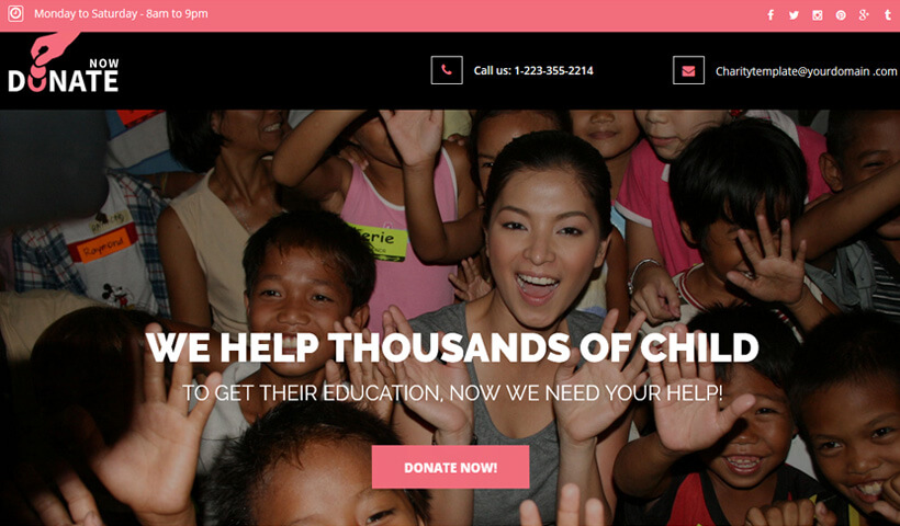 Help People With Best Charity Landing page Template