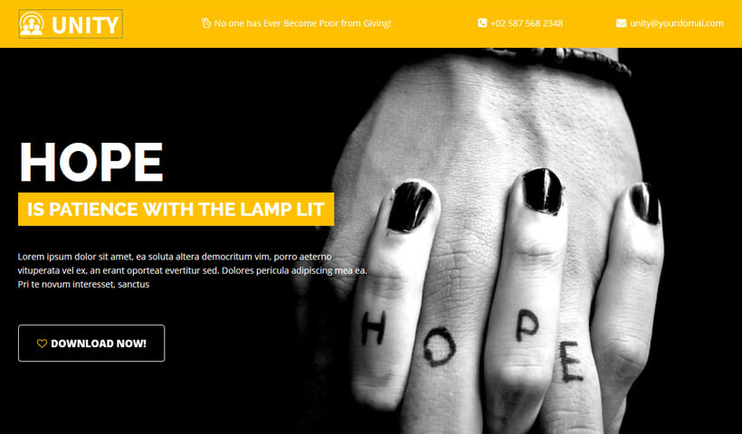 Boost Your Charity Funds With Charity, Trust, NGO Landing page Template