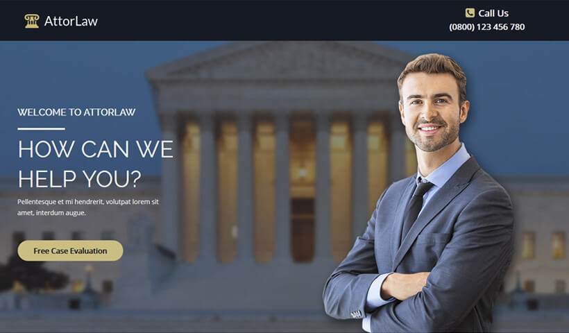 Capture High Lead With Best Law & Justice Firm Landing Page Template