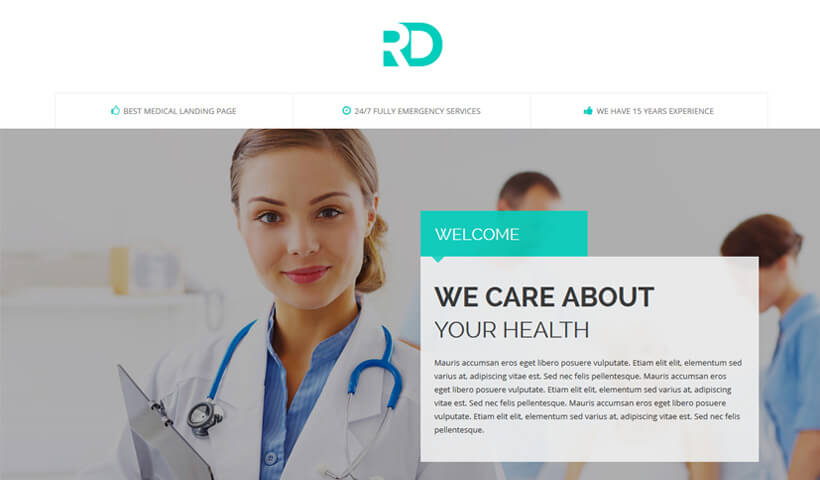 Capture High Lead With Best Medical And Hospitals landing page design template
